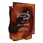 Aurora Wall Plaque Glass Awards - Color Highlighted
